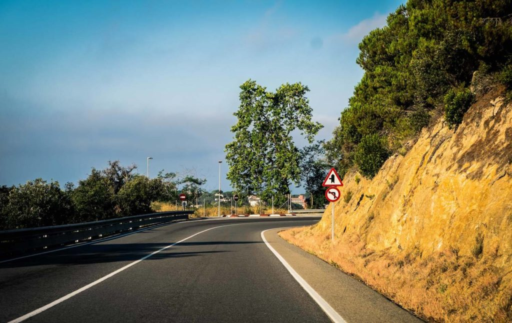 Driving along the Costa Brava