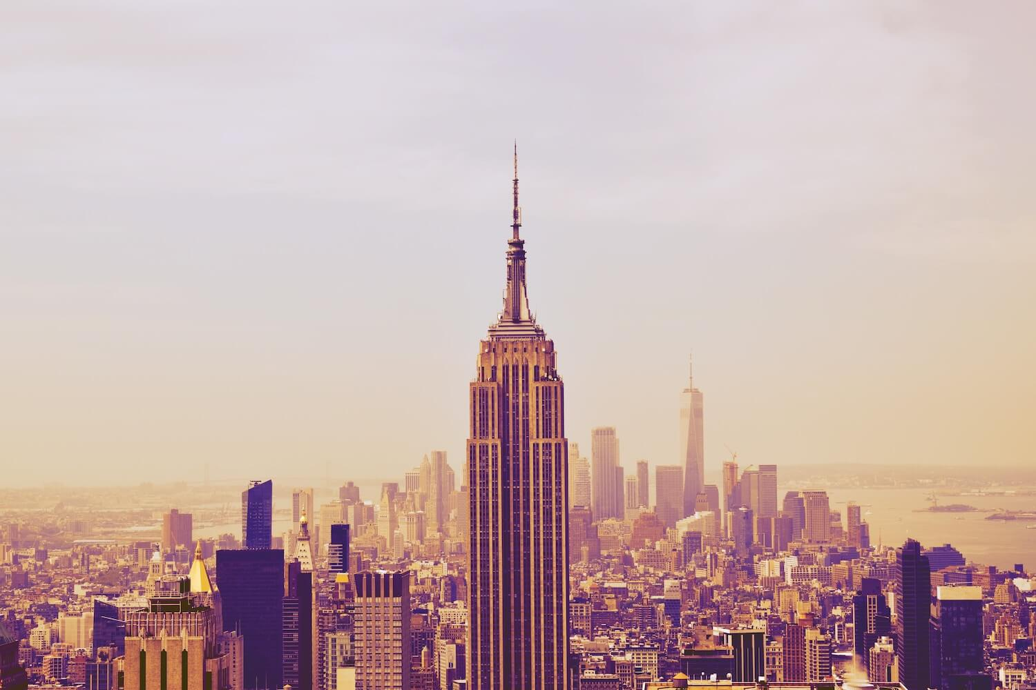 City Skyline, Empire State Building, New York