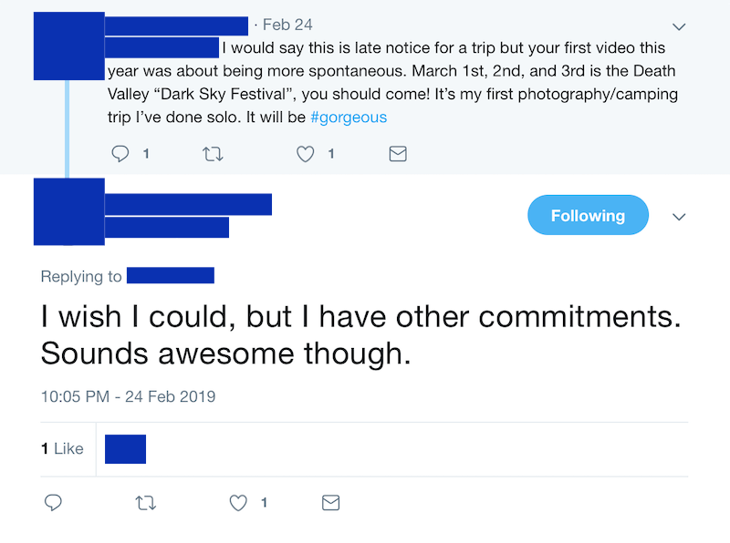 Replying to a comment on Twitter