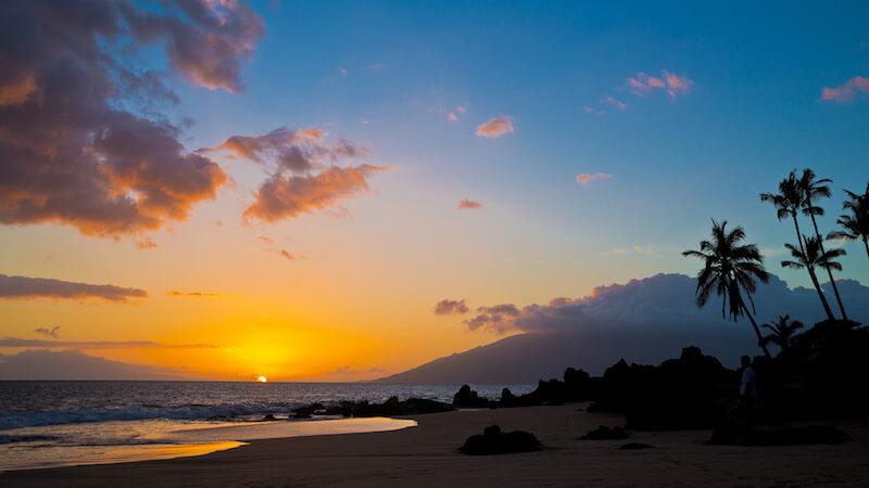 A beautiful sunset on Maui, Hawaii
