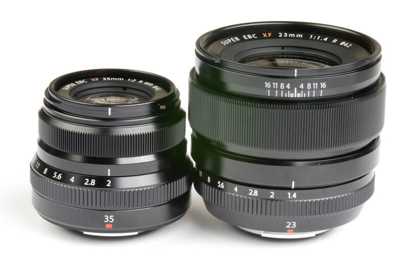 The Fuji 35mm f2 and the 35mm f1.4