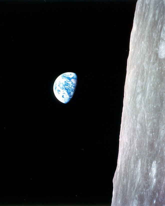 Earthrise Cameras on the moon