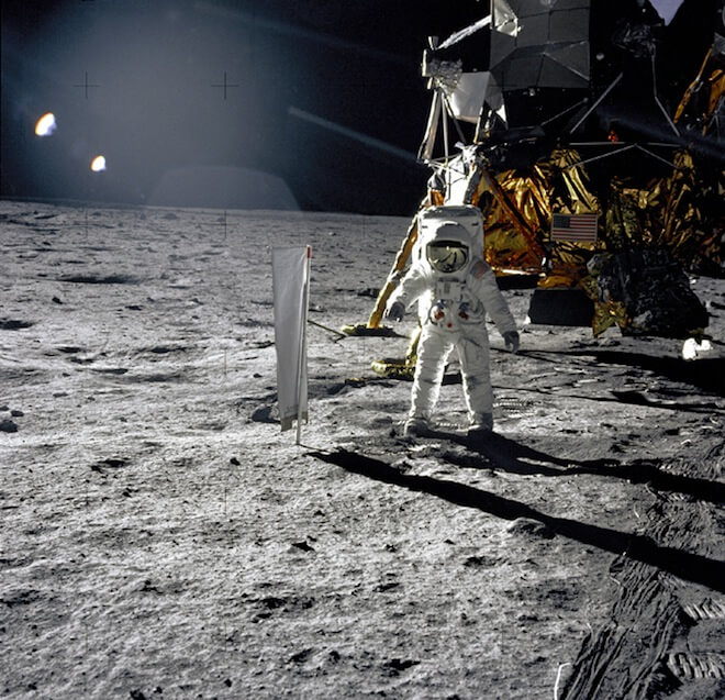 Experiment on the moon