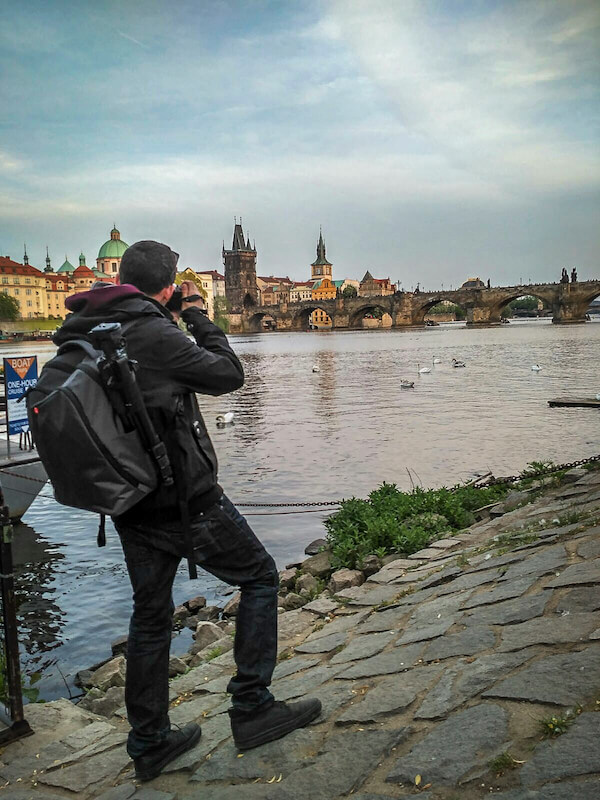 Me using the Manfrotto NX Backpack