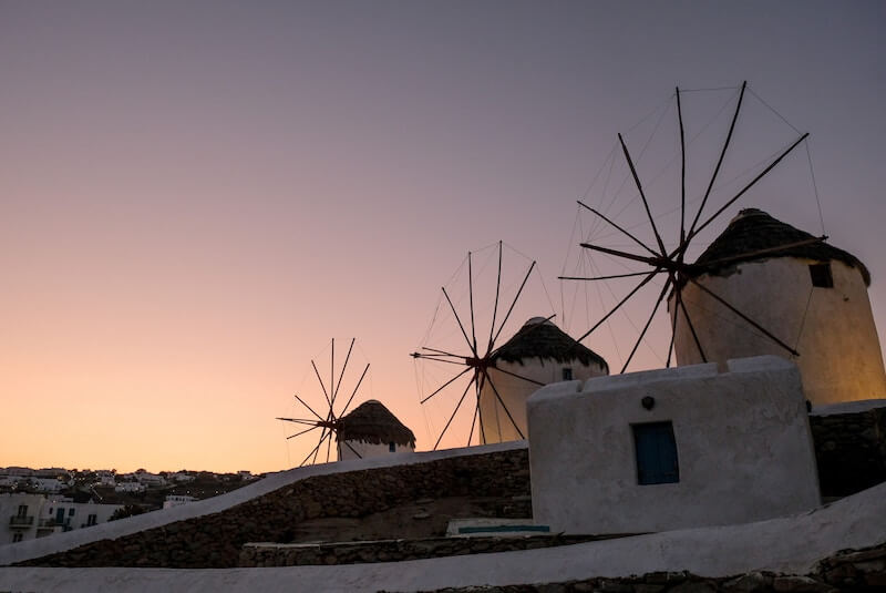 Mykonos Windmills best greek islands for photography