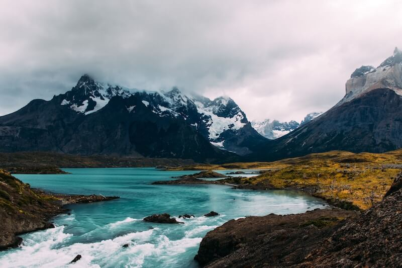 Patagonian lake and mountains