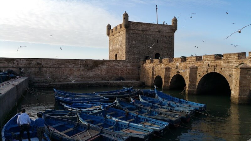 Port in Essaouira, Morocco