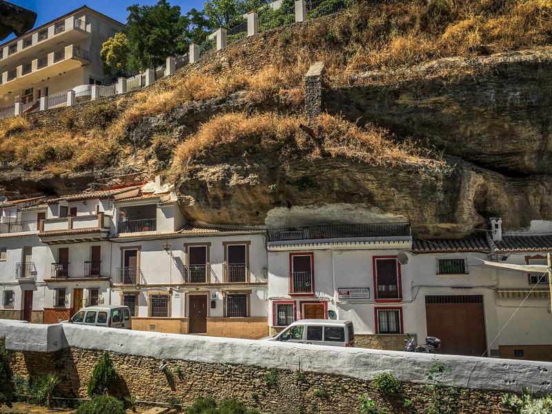 Some of the houses in Setenil de las Bodegas