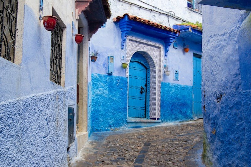 The blue allyways of Chefchaouen