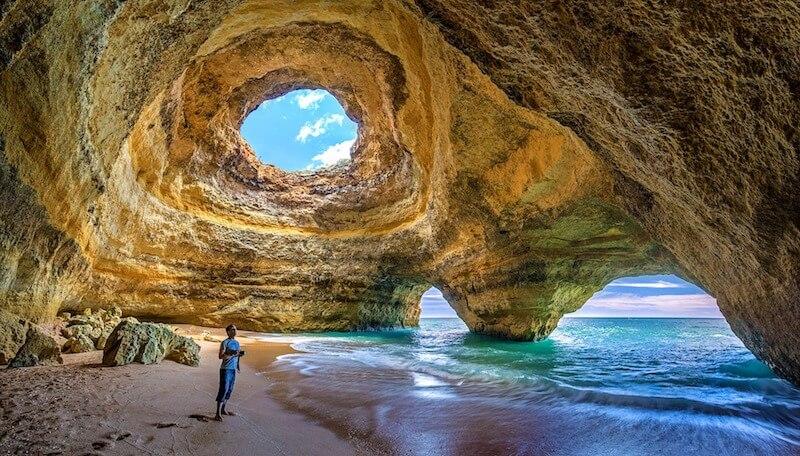 Inside Benagil Cave