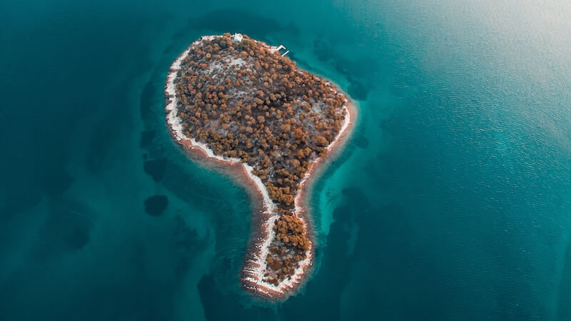 A small island off the coast of Croatia