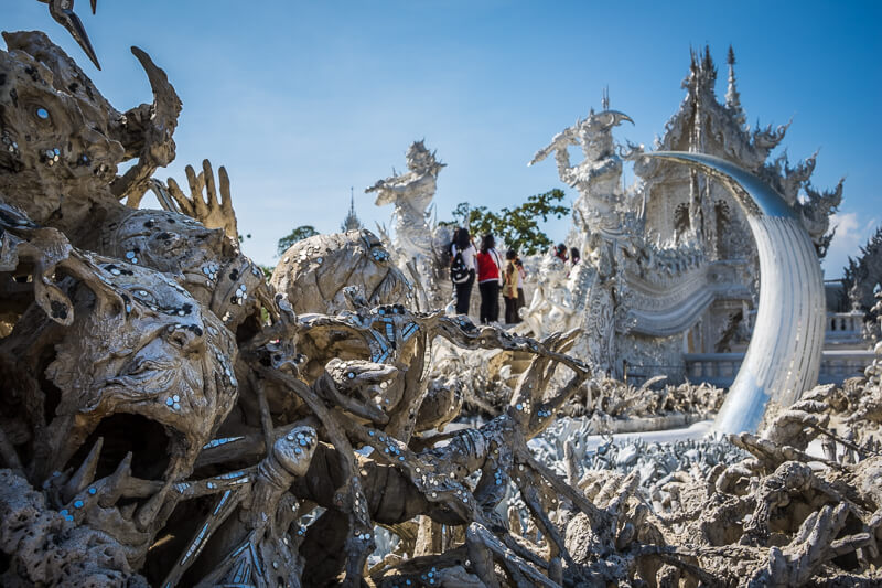 White Temple Sculptures